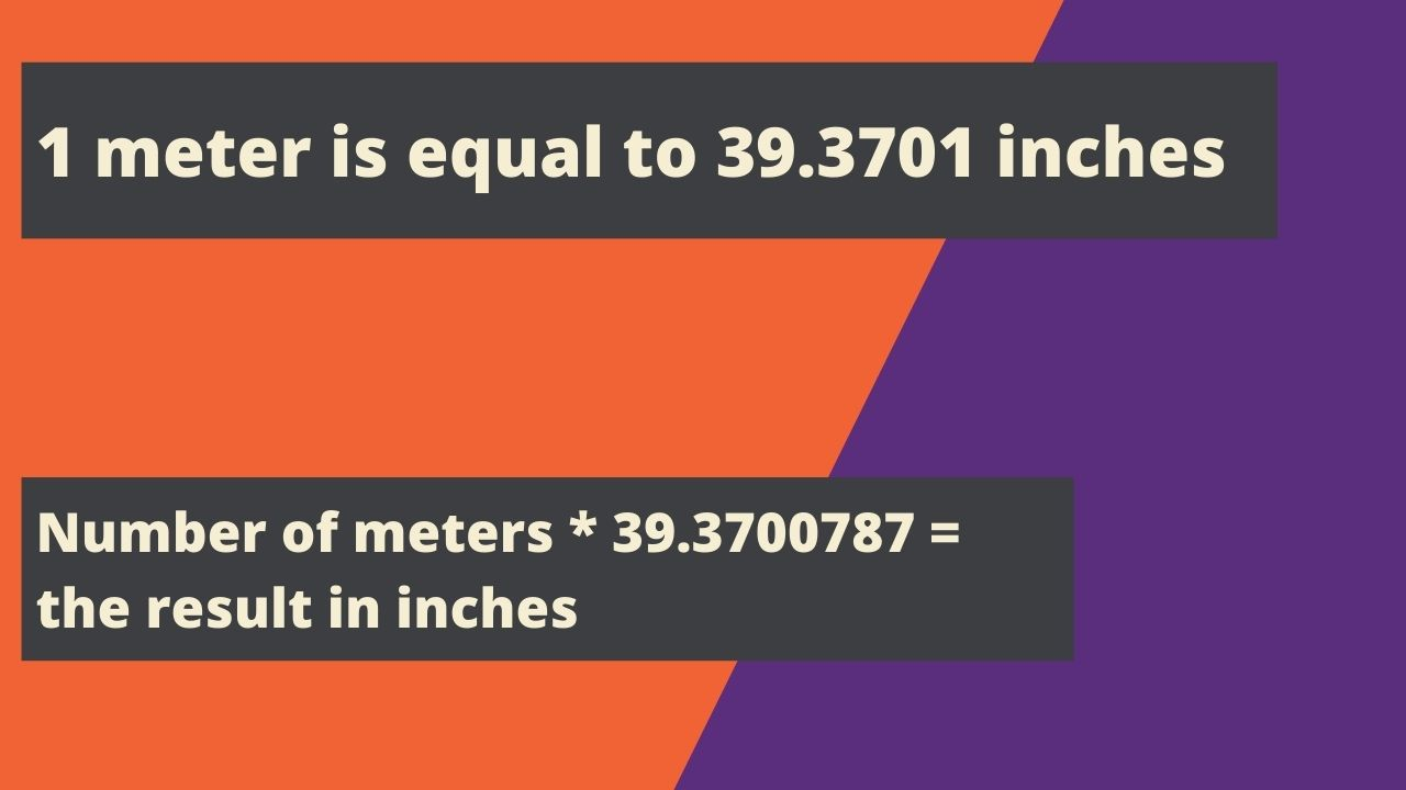1 meter is equal to 39.3701 inches