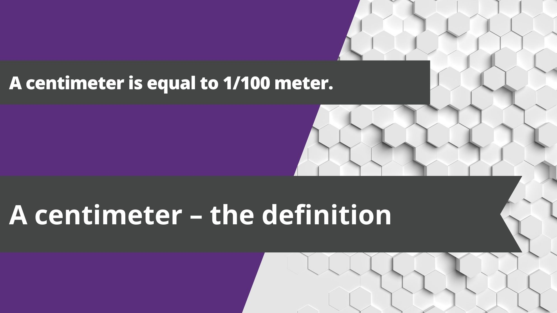 A centimeter – the definition