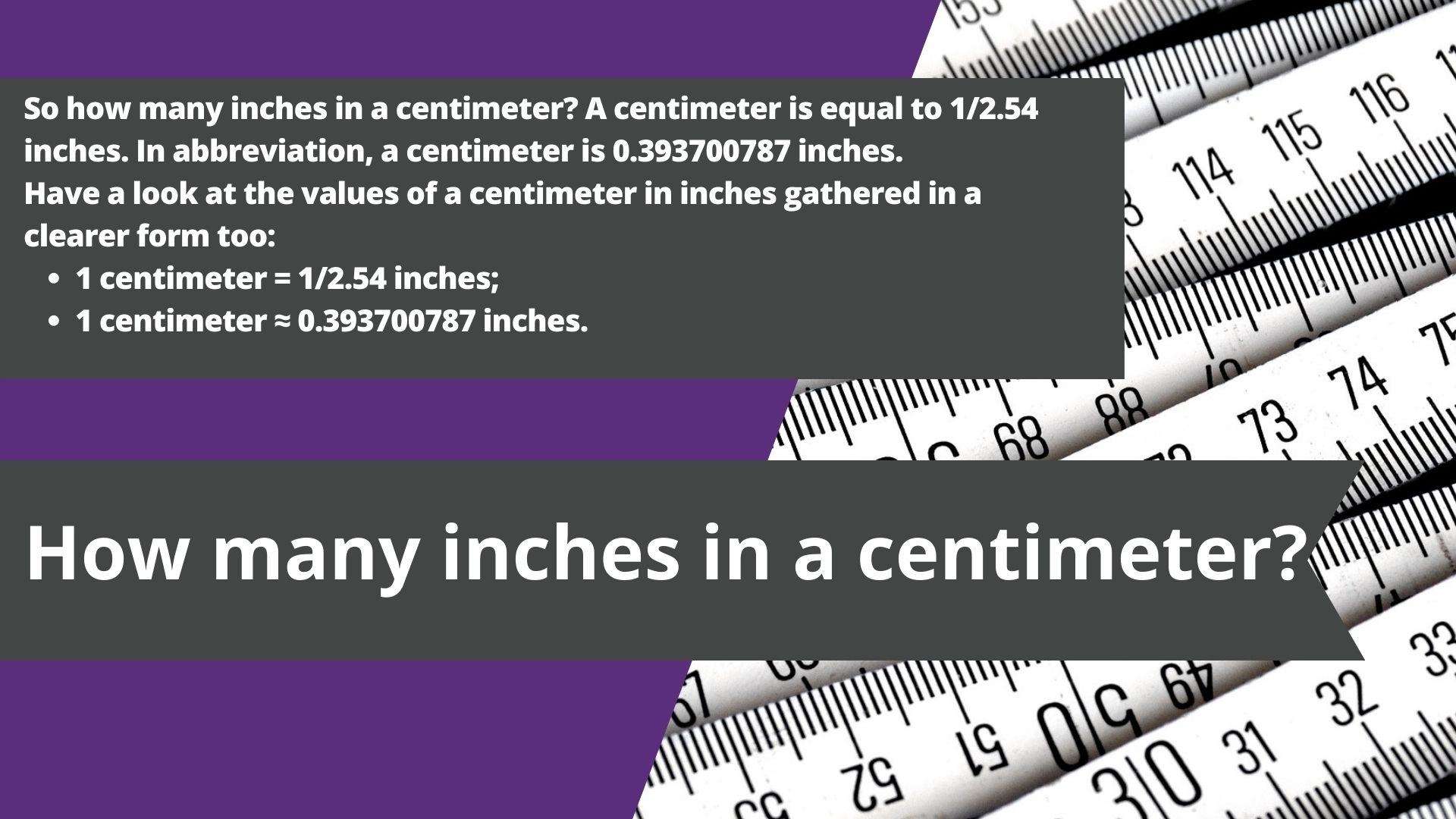 is 1 cm the same as 1 inch, is 1 cm 1 inch